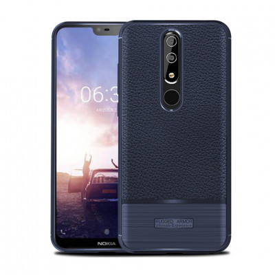 Чехол Rugged Armor для Nokia 6.1 Plus / Nokia X6 Navy Blue