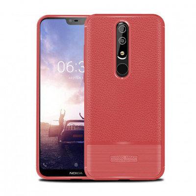 Чехол Rugged Armor для Nokia 6.1 Plus / Nokia X6 Red