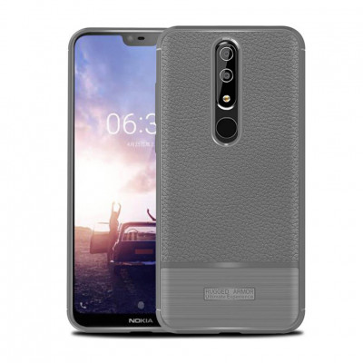 Чехол Rugged Armor для Nokia 6.1 Plus / Nokia X6 Gray