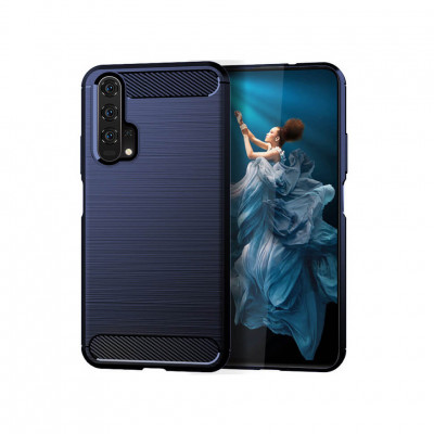 Накладка Lenuo Carbon Fiber для Honor 20 / Huawei Nova 5T Navy Blue