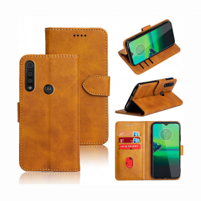 Чохол-книжка EcoCase Skin Series для Motorola Moto G8 Plus Yellowish Brown