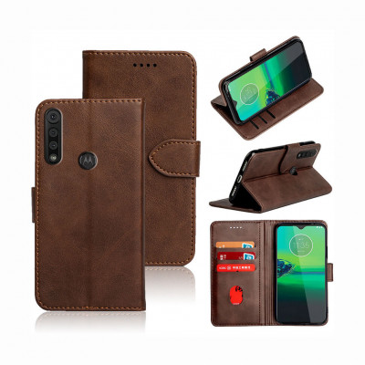 Чохол-книжка EcoCase Skin Series для Motorola Moto G8 Plus Brown