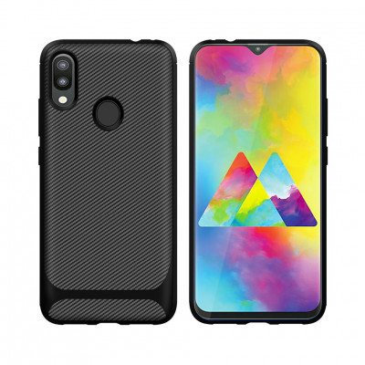 Чехол Capas Carbon для Samsung Galaxy M20 M205F Black