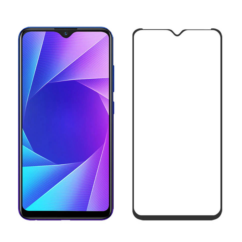 Защитное Full Glue стекло Absolute Glass для Vivo Y93 Lite Матовое Black