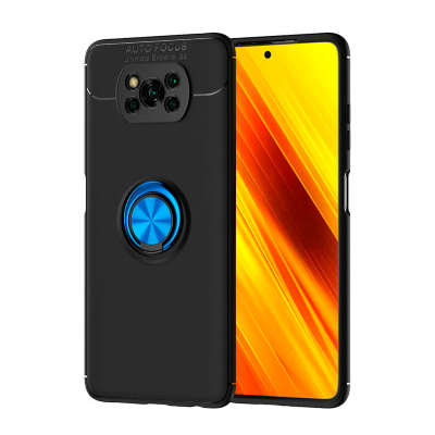 Накладка Lenuo Color Bracket для Poco X3 Pro / Poco X3 NFC Black / Blue