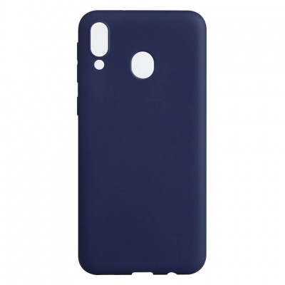 Чехол Shell Liquid Silicone для Samsung Galaxy M20 M205F Navy Blue