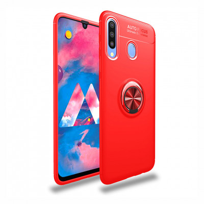 Накладка Lenuo Color Bracket для Samsung Galaxy A20s A207F Red / Красное Кольцо