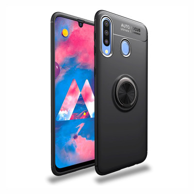 Накладка Lenuo Color Bracket для Samsung Galaxy A20s A207F Black / Черное Кольцо