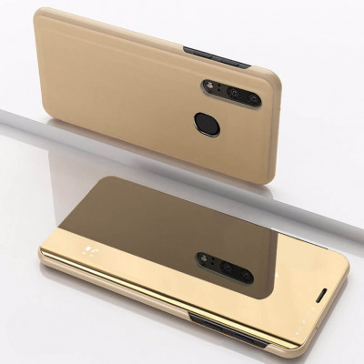 Чехол-книжка Mirror Clear View для Samsung Galaxy M20 M205F Golden