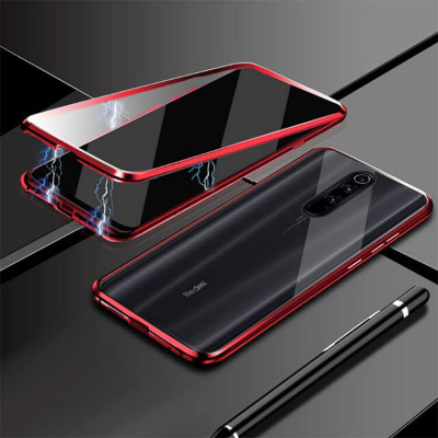 Чехол Fashion Magnetic Flip 360 для Redmi 8A Red