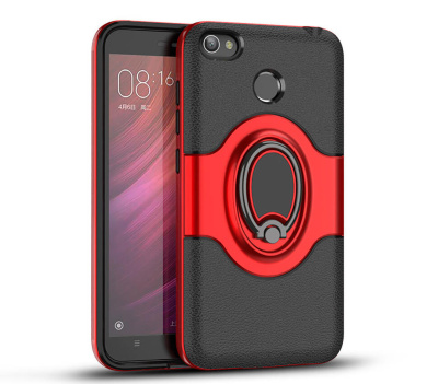 Чехол iPaky Ring Series для Huawei P10 Lite, Black / Red