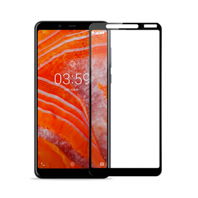 Защитное Full Glue стекло Pro+ для Nokia 3.1 Plus Black