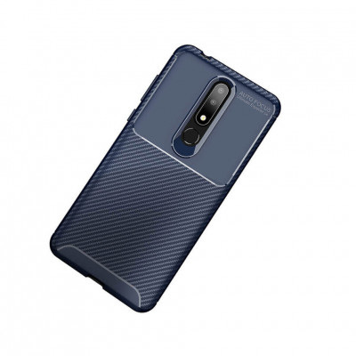 Чехол Lenuo Anti-Fall для Nokia 6.1 Plus / Nokia X6 Navy Blue