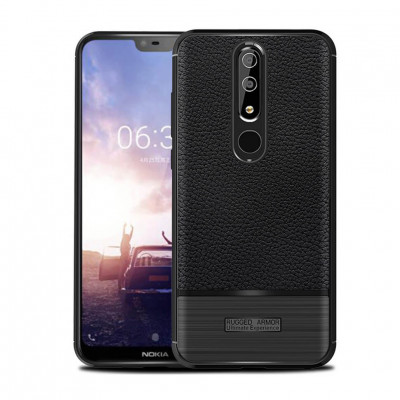 Чехол Rugged Armor для Nokia 6.1 Plus / Nokia X6 Black